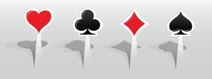 Etiquetas com sinais do cartão de jogo Foto de Stock Royalty Free