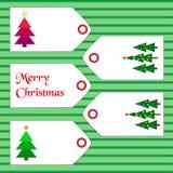 Etiquetas con los artículos de la Navidad Foto de archivo libre de regalías