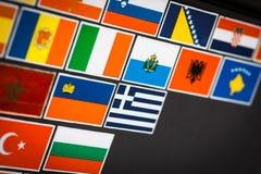 Etiquetas da bandeira de país Fotos de Stock