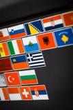 Etiquetas da bandeira de país Imagens de Stock Royalty Free