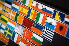 Etiquetas da bandeira de país Fotos de Stock Royalty Free