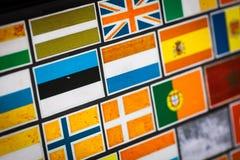 Etiquetas da bandeira de país Imagem de Stock