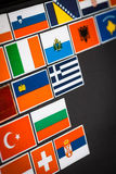 Etiquetas da bandeira de país Fotografia de Stock