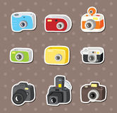Etiquetas da câmera Foto de Stock Royalty Free