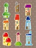 Etiquetas da casa dos desenhos animados Fotos de Stock Royalty Free