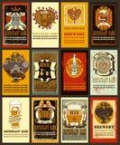 Etiquetas da cerveja para o dia de Valentim Foto de Stock