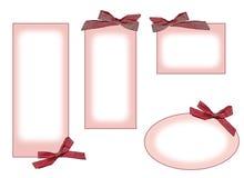 etiquetas da cor-de-rosa Imagem de Stock Royalty Free
