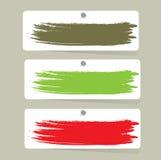 Etiquetas da cor, ilustração do vetor Fotografia de Stock Royalty Free