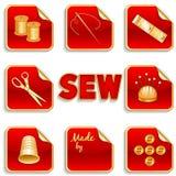 Etiquetas da costura Foto de Stock