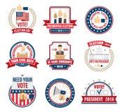 Etiquetas da eleição presidencial Foto de Stock