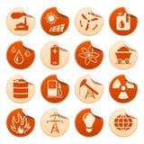 Etiquetas da energia & do recurso Imagem de Stock Royalty Free