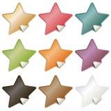 Etiquetas da estrela Imagem de Stock Royalty Free