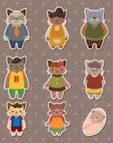 Etiquetas da família de gato Fotos de Stock Royalty Free