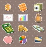Etiquetas da finança & do dinheiro dos desenhos animados Foto de Stock Royalty Free
