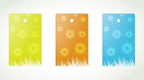 Etiquetas da flor Imagens de Stock