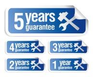 Etiquetas da garantia ajustadas Foto de Stock Royalty Free