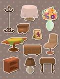 Etiquetas da mobília Imagem de Stock
