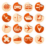 Etiquetas da navegação & do transporte Imagem de Stock