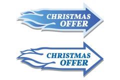 Etiquetas da oferta do Natal ajustadas Conceito da seta e da chama Fotos de Stock