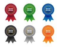 Etiquetas da oferta especial Imagem de Stock Royalty Free
