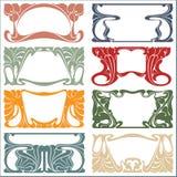 Etiquetas da planta do vintage do vetor em versões diferentes ilustração do vetor