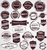Etiquetas da qualidade do vintage de Grunge Fotografia de Stock