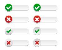 Etiquetas da validação ilustração stock