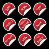 Etiquetas da venda Fotografia de Stock