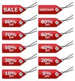 Etiquetas da venda Imagem de Stock Royalty Free