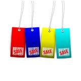 Etiquetas da venda ilustração do vetor