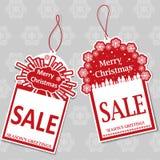 Etiquetas da venda do Natal Fotos de Stock