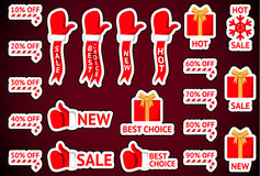 Etiquetas da venda do Natal Imagens de Stock Royalty Free