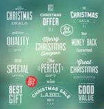 Etiquetas da venda do Natal Fotos de Stock Royalty Free