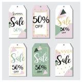 Etiquetas da venda do verão no vetor Imagem de Stock