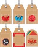 Etiquetas da venda dos desenhos animados Foto de Stock Royalty Free