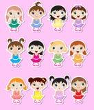 Etiquetas das bailarinas do bebê Foto de Stock