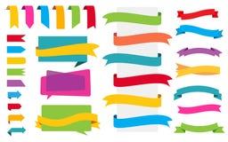 Etiquetas das bandeiras das etiquetas do origâmi Imagens de Stock Royalty Free