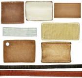 Etiquetas das calças de brim Fotos de Stock