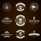 Etiquetas das celebrações de Oktoberfest do festival da cerveja Foto de Stock Royalty Free