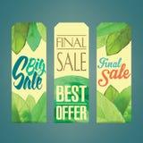 Etiquetas das vendas Fotografia de Stock Royalty Free