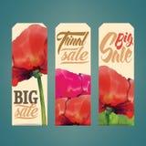 Etiquetas das vendas Imagens de Stock Royalty Free