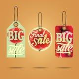 Etiquetas das vendas Imagens de Stock