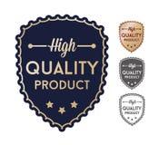 Etiquetas de alta calidad del sistema de producto Foto de archivo libre de regalías