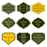 Etiquetas de alta calidad del vintage, vector Imagen de archivo