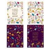 Etiquetas de Autumn Handmade ilustración del vector