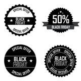 Etiquetas de Black Friday Imágenes de archivo libres de regalías