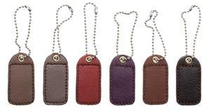 Etiquetas de cuero Foto de archivo libre de regalías
