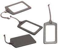 Etiquetas de cuero del equipaje Fotografía de archivo libre de regalías