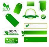 Etiquetas de Eco Foto de Stock Royalty Free