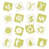 Etiquetas de Eco ilustração stock